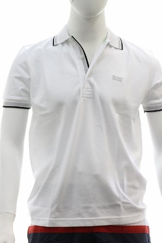 Hugo+Boss+Men%27s+Modern+Fit+Paddy+Polo+Shirt+50198254+X-Large+White