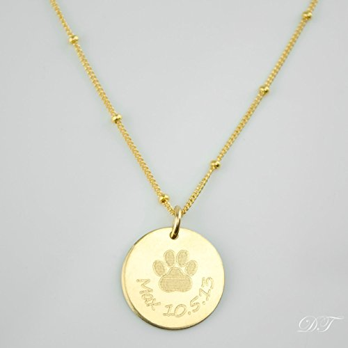 Amazon personalized paw print necklace pet memory necklace personalized paw print necklace pet memory necklace dog or cat memorial jewelry aloadofball Gallery
