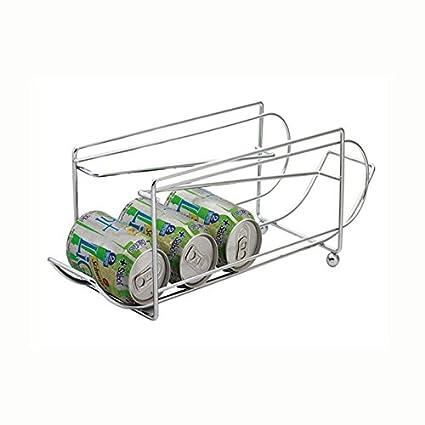 Unbekannt Balvi - Dispensador y Soporte para latas, Metal Cromado
