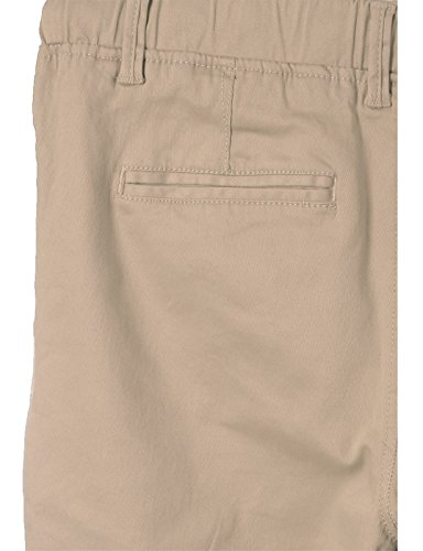 JD Apparel Men's Skinny Fit Harem Joggers Large Khaki by JD Apparel (Image #3)