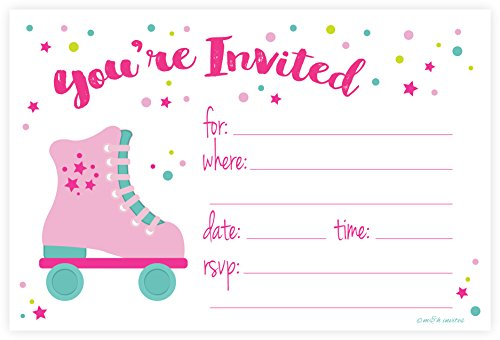 roller-skate-party-invitations-fill-in-style-20-count-with-envelopes-by-mh-invites