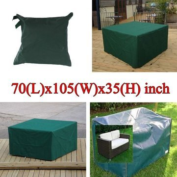 Squarish Article Furniture Underwrite - 180x268x90cm Garden Outdoor Furniture Waterproof Breathable Dust Cover Table Shelter - Cut Screening Direct Enshroud Wrap Foursquare - 1PCs