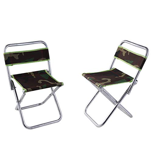 STYLOWY Folding Camping Stool Chairs,Outdoor Slacker Chair for BBQ,Fishing,Travel,Hiking,Garden,Beach