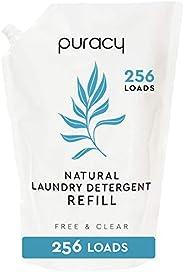 Puracy Liquid Laundry Detergent Refill - 64 fl oz, 256 Loads - Natural, Scent-Free Gentle Liquid Laundry Deter