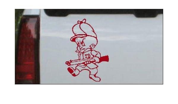 Elmer Fudd Gun Hunting Car or Truck Window Laptop Decal Sticker