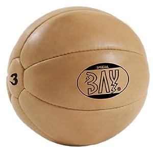 BAY® LEDER PU 3 Kilo Medizinball, Profi-Qualität, Gymnastik / Fitness Ball,...
