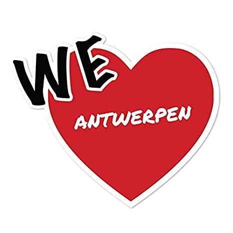 Antwerpen Farbe Ortsschild Design JOllify Aufkleber