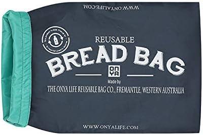 Sacchetto per pane riutilizzabili ONYA Carbone 41x25x10cm plastica per mantenere il pane//cibo fresco