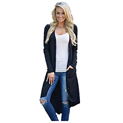 YANG-YI Clearance Women Loose Sweater Long Sleeve Knitted Cardigan Outwear Jacket Coat