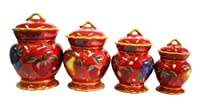 Crimson Orchard 4pc Canister Set