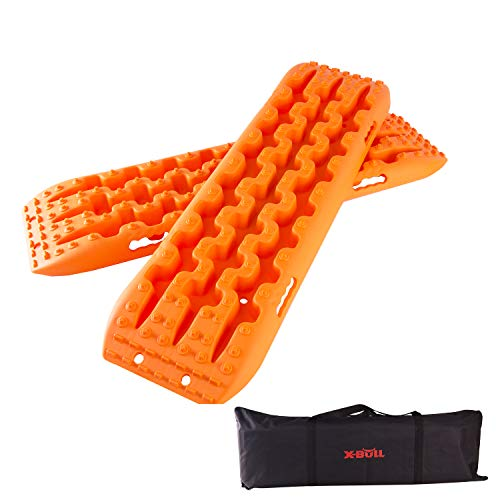 X-BULL New Recovery Traction Tracks Sand Mud Snow Track Tire Ladder 4WD (Orange, 3gen)