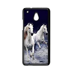 HTC One Mini Case,Running White Horses With Splashed Water High Definition Wonderful Design Cover With Hign Quality Hard Plastic Protection Case
