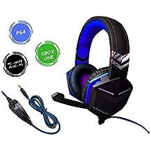 Headset Gamer Xbox One PS4 PC 7.1 Plug P3 3.5mm Som Do Jogo E Chat Cabo Nylon AZ