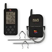 Maverick ET-733 Black Long Range Wireless Dual Probe BBQ Smoker Meat Thermometer Set - NEWEST VERSION With a Larger Display and added Features
