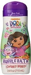 Nickelodeon Dora the Explorer Bubble Bath Cherry Berry 24 Ounce
