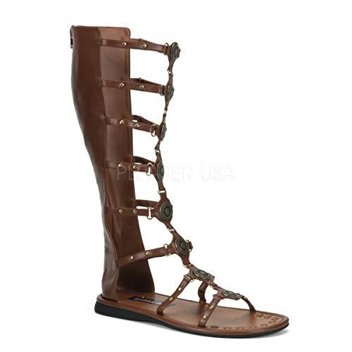 Funtasma by Pleaser Men's Halloween Roman-15 Boot,Brown,S (US Men's 8-9 M)