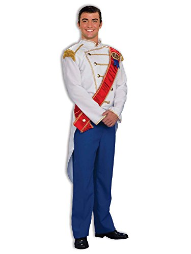 Forum Fairy Tales Fashions Prince Charming Costume, Blue/White, Standard -