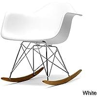 Baxton Studio Dario Plastic Mid-Century Modern Shell Chair, White
