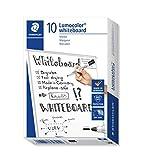 Staedtler Lumocolor 351-9 Bullet Tip 2MM Whiteboard Marker, Pack Of 10 (Black)