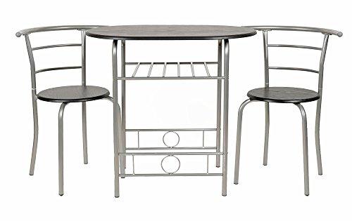 ts-ideen Essgruppe 3-teilig, 3er Set Esstisch und Stühle Küchen ...