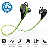 JIKRA Green SportsBluetooth Jogger Headset Wireless 4.0 for Smartphones (Colour May Vary)