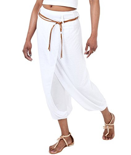 KRISP Womens Casual Genie Harem Pants (White , Small US 4-6),[USA4866-WHT-S]