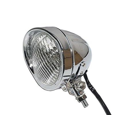 Chrome Retro Vintage Motorcycle Headlight Lamp For harley Bobber Chopper Custom Honda Yamaha Suzuki Kawasaki