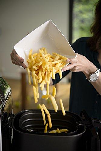 amazon de tefal fx10a1 heia luft fritteuse fry delight initial 0 8 kg 1400 w weia schwarz