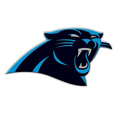 """Fremont Die NFL Shop Authentic 12"""" Magnet Team Banner Helmet/Logo (Carolina Panthers Logo)"""