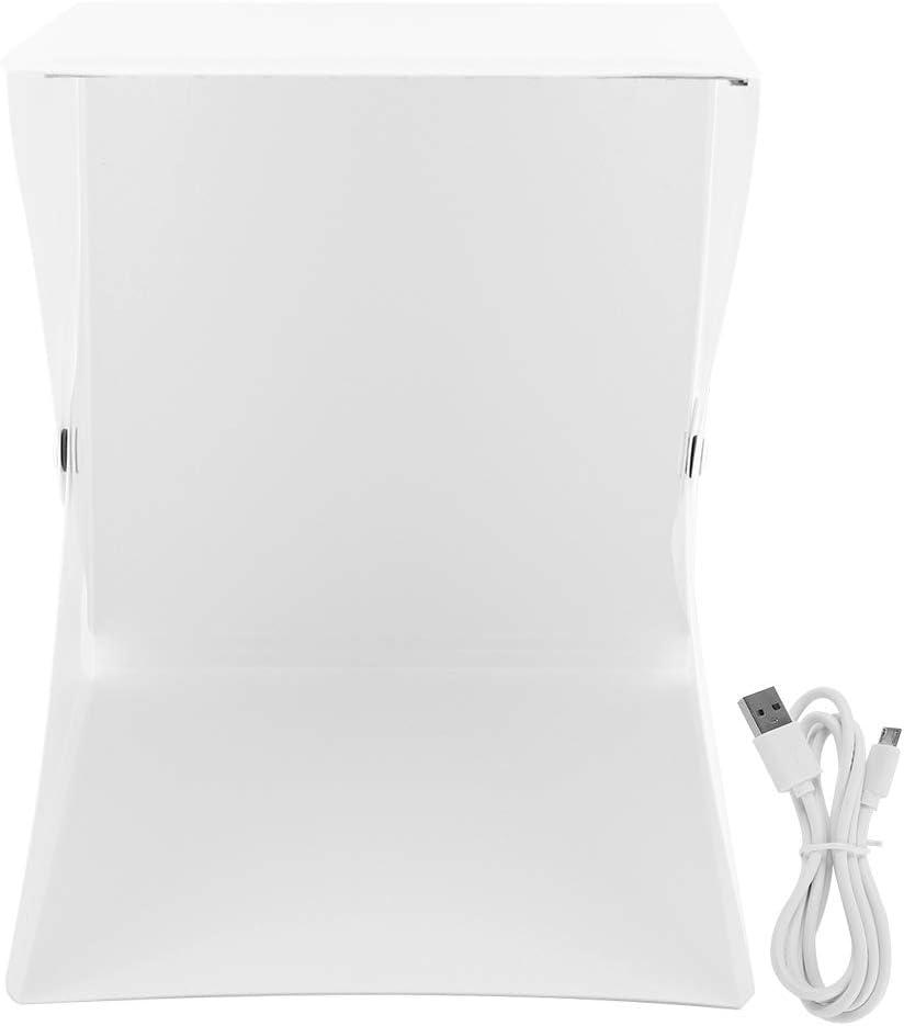 LED Photo Studio Photography Lighting Tent Box Kit 1 Mini Studio Senyar Portable Light Room Black /& White ,1 Storage Bag,1 Micro USB Cable 2 Backdrops