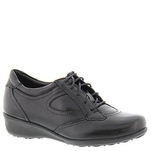 Drew Shoe Women's Prague Casual Sneakers, Black Leather, 10 M - Genuine Leather Women Sneakers