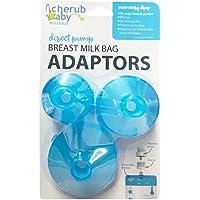 Cherub Baby Breast Milk Bag Adapters, Blue