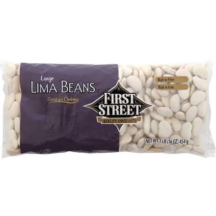 First Street Large Lima Beans, 16oz (Single) (Large Lima Beans)