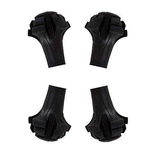 WOVELOT Four Pack of Extra Durable Rubber Replacement Tips (Replacement Feet/Paws/Ferrules/Caps) for Trekking Poles…