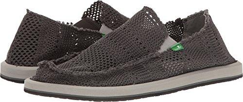 Sanuk Casual Shoes Mens yew Knit Slip On Mesh 10 M Charcoal - Sanuk Styles