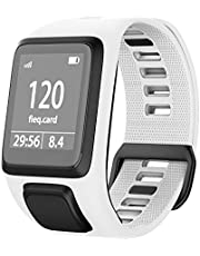 ANCOOL Compatible with Tomtom Spark 3/Runner 2 Watch Bands,Soft Silicone Watch Strap Wristband for Tomtom Runner 2/Runner 3/Spark 3/Golfer 2 Sport GPS Smartwatch