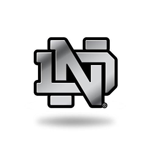 Rico Industries NCAA Notre Dame Fighting Irish Chrome Finished Auto Emblem 3D Sticker