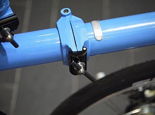 Nov Black Easy shell titanium MOVING hinge clamps lever for Brompton Folding Bike - Dino Kiddo by Dino Kiddo (Image #3)