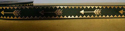 Black & Gold Foil Arrow Satin Ribbon - 4 Yards