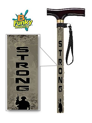 Adjustable T Handle Walking Cane US Army Strong