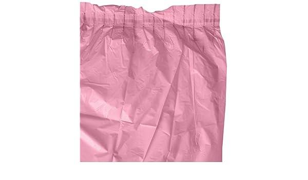 amscan 73 x 426 cm Falda de Mesa de plástico, Rosa: Amazon.es: Hogar