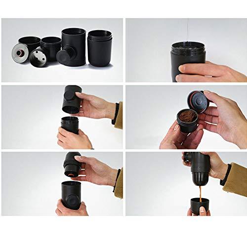 DishyKooker Portable Mini Coffee Maker Hand Pressed Espresso Machine by DishyKooker (Image #2)