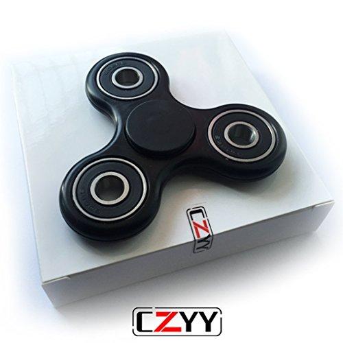 CZYY Black Spinner Fidget EDC ADHD Focus Toy Ultra Durable High Speed Si3N4 Hybr…