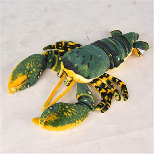 (Ellelove Incredible Lobster Stuffed Animals Soft Plush Fun Toys Pillow Home Decor Gift (Green, 18 inch))