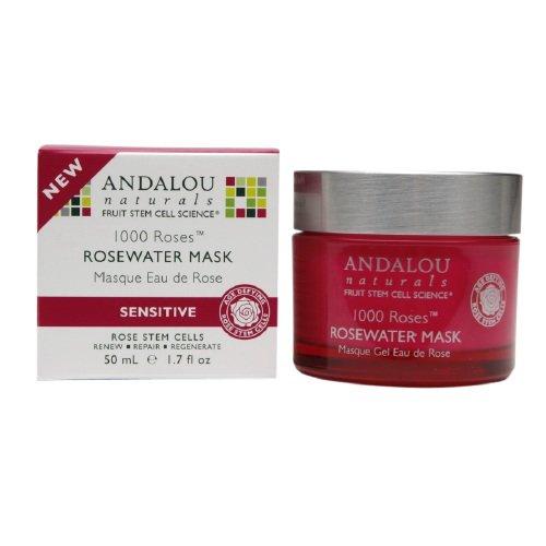 Andalou Naturals 1000 Roses Rosewater Mask 1.7 fl oz (50 ml) (Andalou 1000 Roses Rosewater Mask)