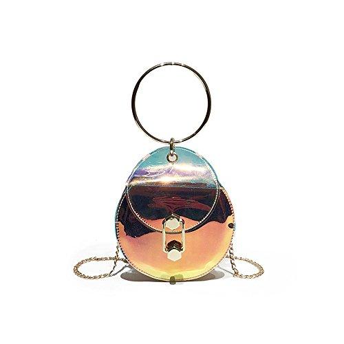 Meaeo Transparent Shoulder Bag Messenger Bag Fashion Chain Laser