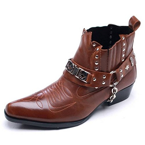Mens Boots With 2 Inch Heels - 7