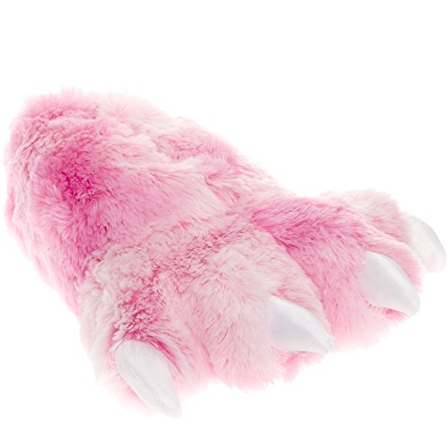 Wishpets Grizzly Bear Paw Slippers w/White Toes