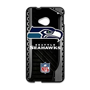 Happy Seattle Seahawks Logo Fashion Comstom Plastic case cover For HTC One M7