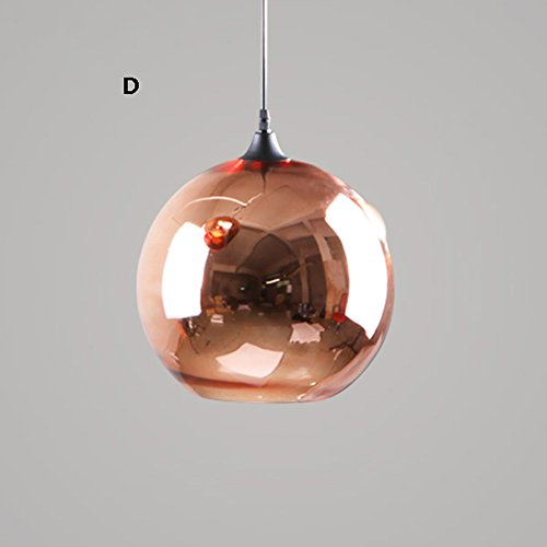 2d Pendant (Christmas Ball Glass Chandeliers Nordic Post-modern Bicolor Plating Ceiling Lamp Office Bar Cafe Single Head Rope Pendant Lamp ( Color : 2-D ))